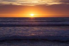 Заход солнца на пляже Strandhill Стоковые Фотографии RF