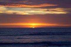 Заход солнца на пляже Strandhill Стоковые Изображения RF