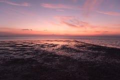 Заход солнца на пляжном комплексе Lakawon, Кадис, жителе Запада Negros, Phlipp стоковая фотография rf