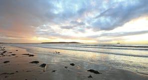 Заход солнца на пристани конематки Weston супер Стоковые Изображения RF