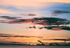 Заход солнца на Сайпане Стоковые Изображения