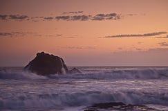 Заход солнца на Сан Simons, Калифорния стоковое изображение