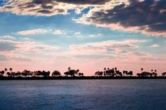 Заход солнца на Тампа, Флорида Стоковое Фото