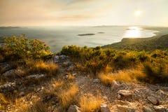 Заход солнца на точке зрения ÄŒelinka Стоковые Фото