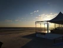 Заход солнца на юге Испании стоковое изображение