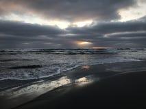 Заход солнца на южной Калифорнии стоковая фотография rf