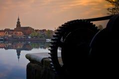 Заход солнца на Blokzijl, NL Стоковая Фотография RF