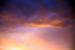 Заход солнца на Cape Town Стоковая Фотография