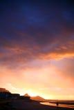 Заход солнца на Cape Town Стоковое Изображение RF