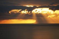 Заход солнца на Flores Индонезии Стоковое Фото