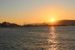 Заход солнца на Gallipoli стоковые фотографии rf