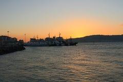 Заход солнца на Gallipoli стоковая фотография rf