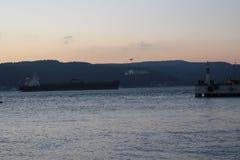 Заход солнца на Gallipoli стоковое изображение