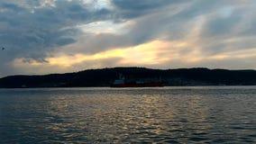 Заход солнца на Gallipoli сток-видео