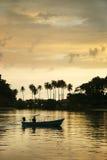 Заход солнца на Kho Chang - Таиланде Стоковая Фотография RF