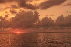 Заход солнца на Manado стоковые фото