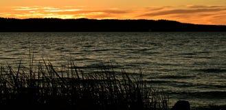 Заход солнца на Mukilteo, Washington14 Стоковое Изображение