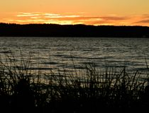 Заход солнца на Mukilteo, Washington13 Стоковая Фотография