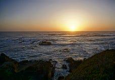 Заход солнца на PCH стоковое изображение