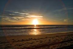 Заход солнца на Solana стоковые фото