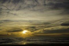 Заход солнца на tyrrhenian море Стоковая Фотография