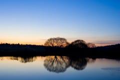 заход солнца неба ландшафта Стоковое Изображение RF