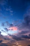 заход солнца неба облака Стоковые Изображения RF