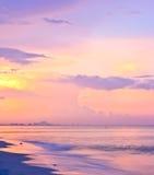 заход солнца неба пляжа Стоковые Фото