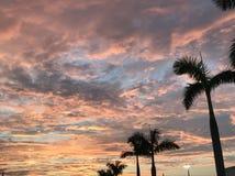 заход солнца неба тропический Стоковое Изображение