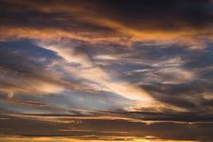 заход солнца неба Стоковое Изображение