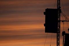 заход солнца нот празднества Стоковая Фотография RF