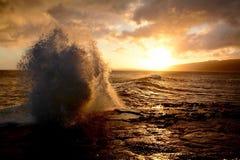 Заход солнца Оаху Стоковое Фото