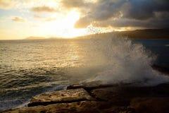 Заход солнца Оаху Стоковые Фотографии RF