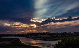 Заход солнца облака шторма Стоковые Изображения RF