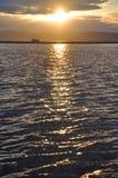заход солнца озера круиза champlain Стоковое фото RF