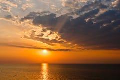 заход солнца озера erie Стоковые Фотографии RF
