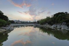 Заход солнца озера Wanshi, саман rgb Стоковые Фото