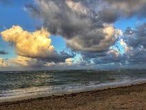 Заход солнца океана Стоковое фото RF