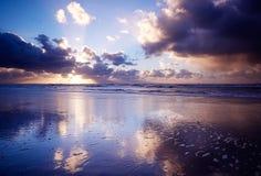 заход солнца океана Стоковые Изображения RF