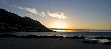 заход солнца океана Стоковая Фотография RF