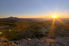 заход солнца Орегона горы Стоковые Фотографии RF
