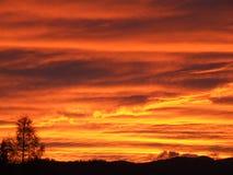 заход солнца осени стоковое фото