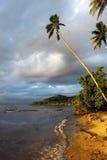 заход солнца острова тропический Стоковое фото RF