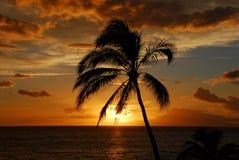 заход солнца острова Стоковые Фотографии RF