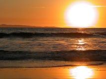 заход солнца острова california catalina стоковое фото rf
