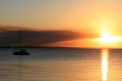 заход солнца острова fraser Стоковые Фотографии RF