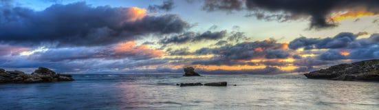 Заход солнца острова Rottnest стоковая фотография