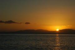 заход солнца островов whitsunday стоковое фото