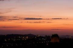 заход солнца памятника Стоковая Фотография