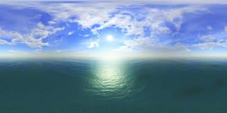 Заход солнца панорамы карта окружающей среды HDRi бесплатная иллюстрация